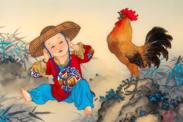 Ilustración del signo del Zodíaco Chino del Gallo