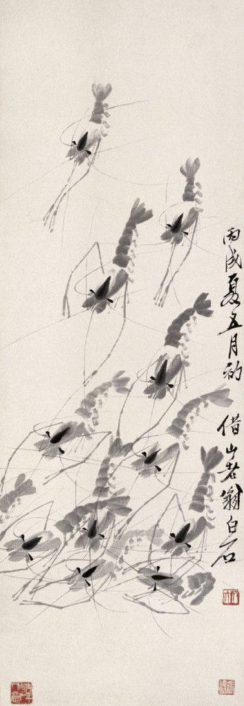 Antiguo grabado de estilo Japonés que representa varios Insctos